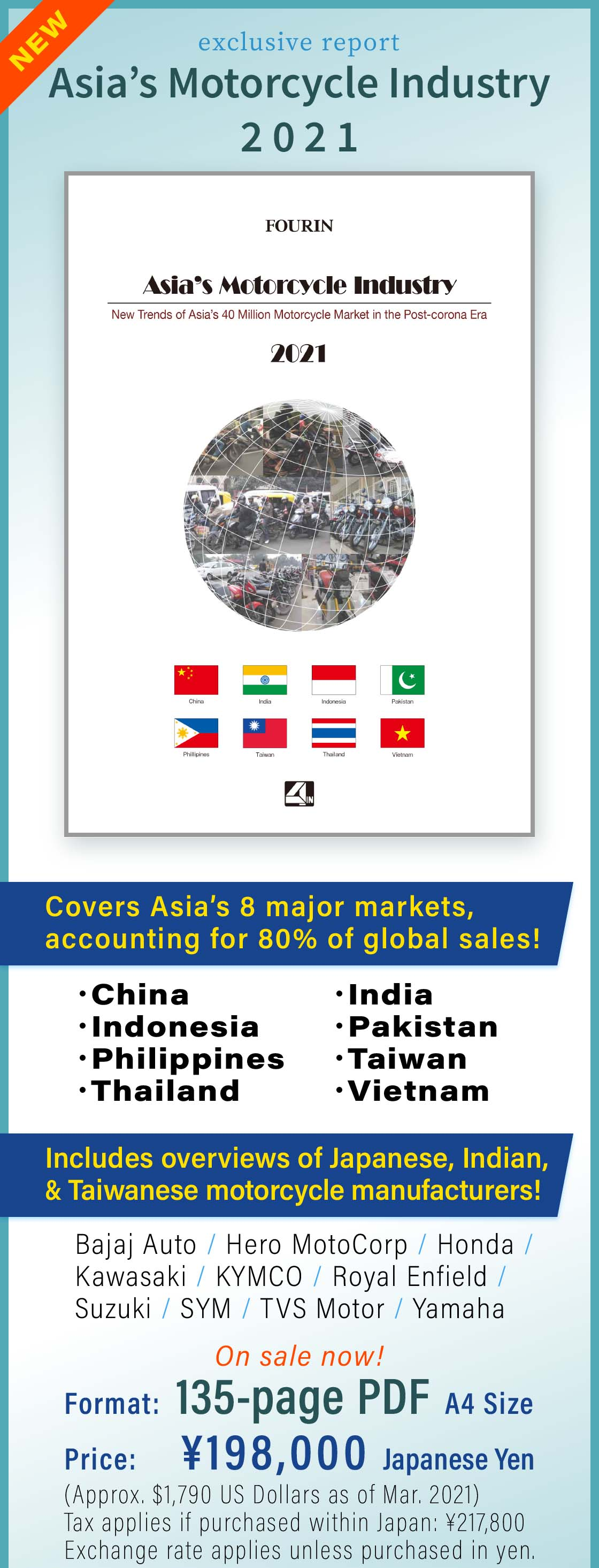Asia's Motorcycle Industry - click for details about our report